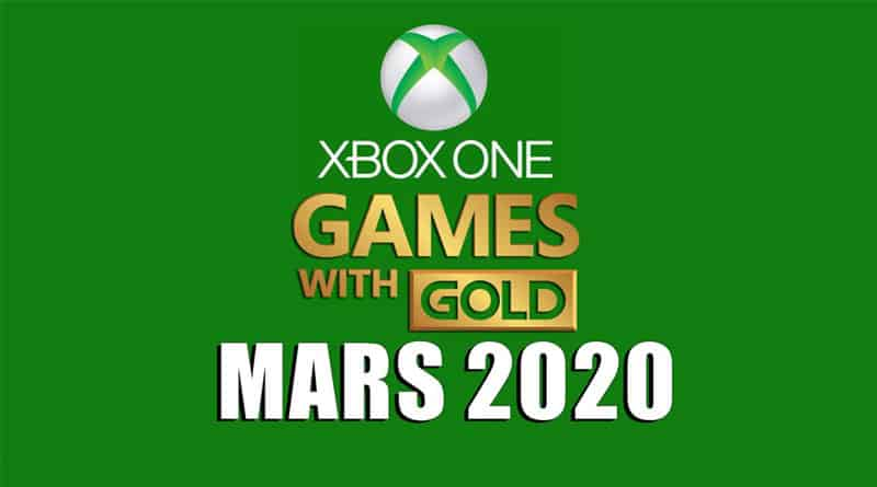 Jeux xbox mars 2020 games with gold