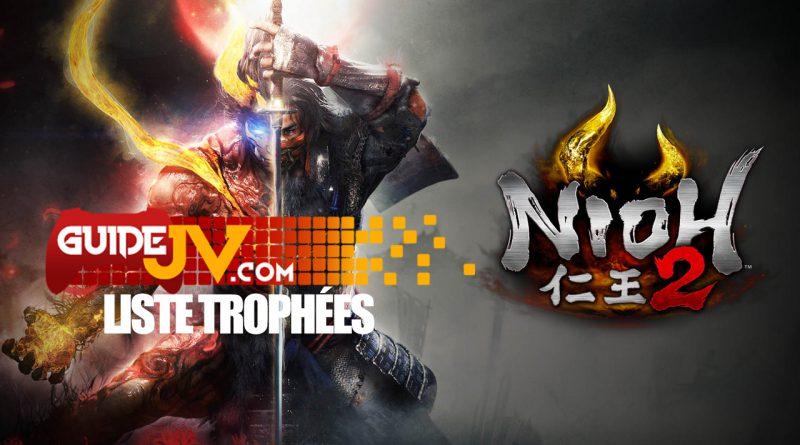 liste trophées nioh 2 ps4