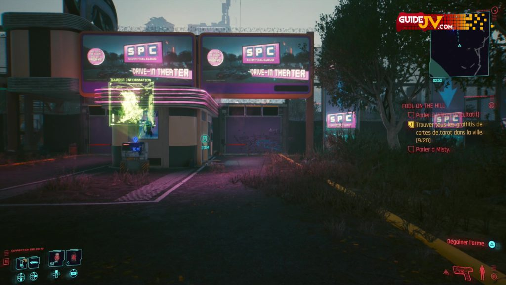 cyberpunk-2077-emplacements-graffitis-fresques-cartes-de-tarot-fool-on-the-hill-guide-trophee-succes-le-voyage-du-fou
