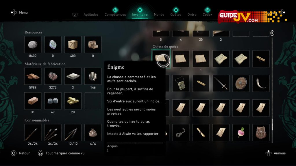 assassins creed valhalla chasse aux oeufs emplacement eostre