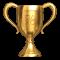 trophée en or